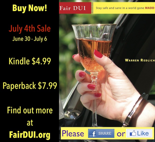 DUI Book July 4th Sale