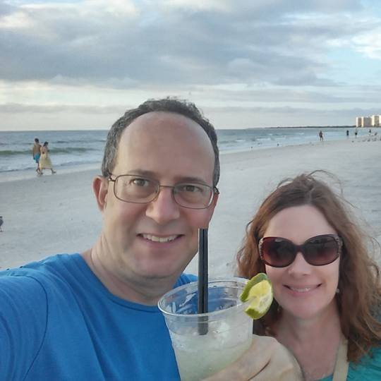 Warren Redlich and his wife on vacation.